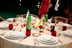 Wedding table royalty free stock images