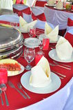 Wedding table. An outdoor shot of a wedding table Royalty Free Stock Photography