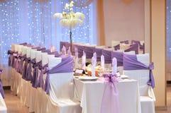 Wedding table. Photo of a wedding table royalty free stock photos