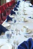 Wedding Table. Head table settings at a wedding reception Stock Photos