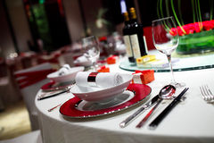 Wedding table. Set for dining Royalty Free Stock Photography