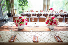 Wedding table. Set for dining Stock Photo