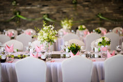 Wedding table. Set for dining Stock Photography