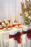Wedding table. In a restaurant Royalty Free Stock Images