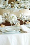 Wedding Table. Photo of a wedding table stock image