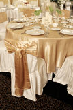 Wedding table. S in a luxurious ballroom Stock Images