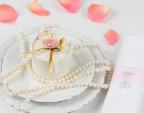 Wedding table accessories Royalty Free Stock Photography