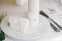 Wedding table served Stock Image