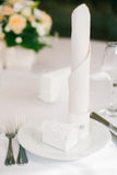 Wedding table served Stock Photography