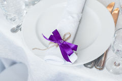 Wedding table served Royalty Free Stock Photo