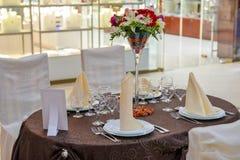 Wedding table arranged Royalty Free Stock Photos