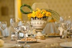 Wedding table arrangement Stock Image