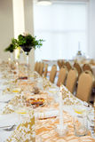 Wedding table arrangement Royalty Free Stock Photo