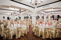 Wedding table arrangement Stock Photography