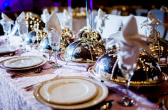 Wedding table arrangement Royalty Free Stock Photography