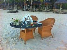 Wedding table on beach Stock Photo