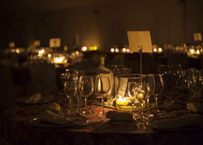 Wedding table with beautiful bokeh Royalty Free Stock Image