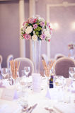 Wedding table beautifully decorated Royalty Free Stock Images