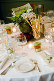 Wedding table with centerpiece Royalty Free Stock Photography
