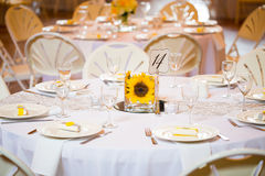 Wedding Table Centerpieces with Flowers Stock Images