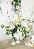 Wedding Table Centerpieces. Royalty Free Stock Photo