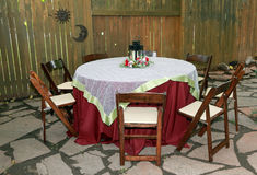 Wedding table with chairs. Royalty Free Stock Photography