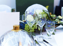 Wedding table closeup Royalty Free Stock Photo
