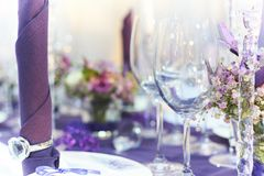 Wedding table closeup Stock Photo