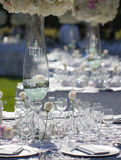 Wedding table decor Stock Photos