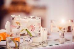 Wedding table decor royalty free stock photos