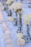 Wedding table decor stock photo