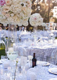Wedding table decor Royalty Free Stock Photos