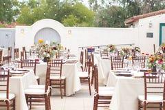 Wedding table decor Stock Photography