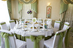 Wedding table decor Royalty Free Stock Images