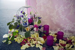 Wedding table decorated Royalty Free Stock Photos