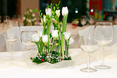 Wedding table decoration Stock Image