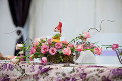 Wedding table decoration stock images