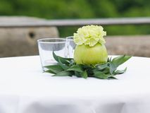 Wedding table decoration Royalty Free Stock Image