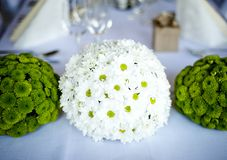 Wedding table decoration Royalty Free Stock Photo