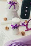 Wedding table decoration Stock Photo