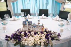 Wedding table decoration elements for a nice  banquet. Wedding table decoration elements for a nice lovely banquet Stock Image