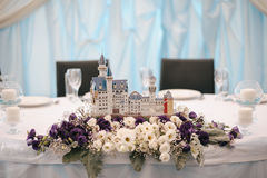 Wedding table decoration elements. For a nice lovely banquet Royalty Free Stock Images