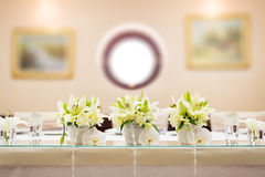 Wedding table decoration. With flowers Royalty Free Stock Images