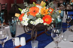 Wedding table decoration Royalty Free Stock Images