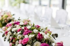 Wedding table decoration Royalty Free Stock Image