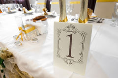 Wedding Table Decoration - Series Stock Photo