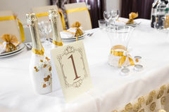 Wedding Table Decoration - Series Stock Photos
