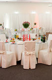 Wedding table decoration Royalty Free Stock Photos