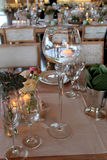 Wedding table decorations Royalty Free Stock Photo