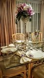 Wedding table design Stock Images